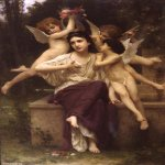 William Bouguereau (1825-1905)   R&#234;ve de printemps[A Dream of Spring]  Oil on canvas, 1901  Private collection
